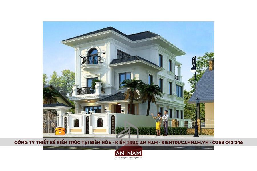 thiết kế kiến trúc biệt thự tại Biên Hòa