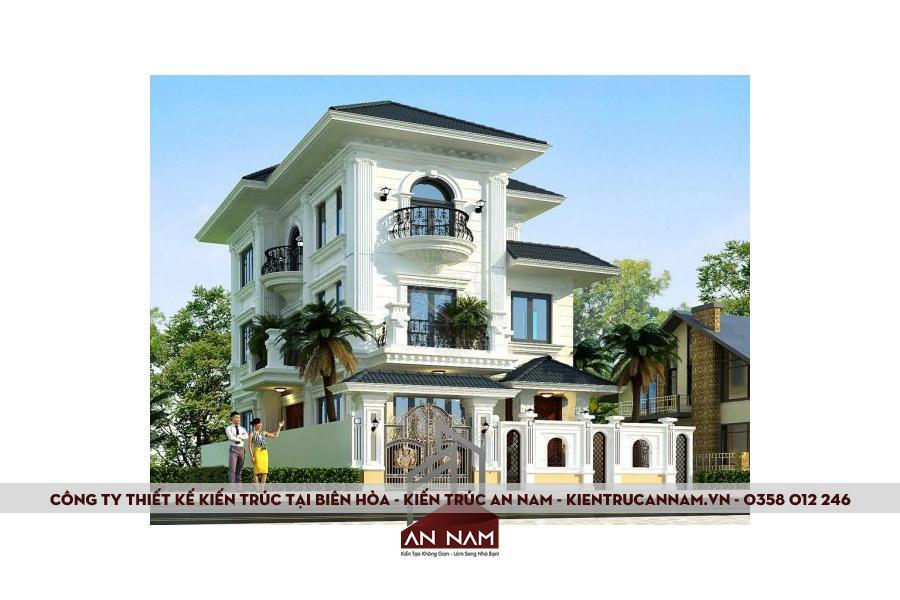 thiết kế biệt thự 3 tầng tại Biên Hòa