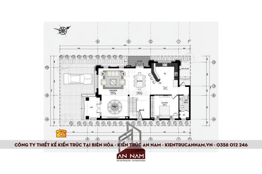 bản vẽ thiết kế biệt thự tại Biên Hòa