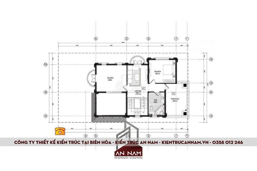 bản vẽ thiết kế biệt thự 3 tầng tại Biên Hòa