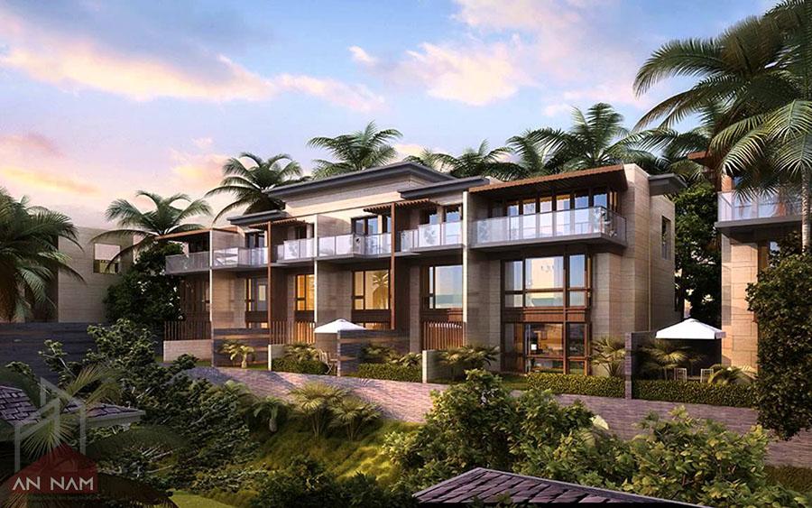 phong cách thiết kế biệt thự vườn tropical style