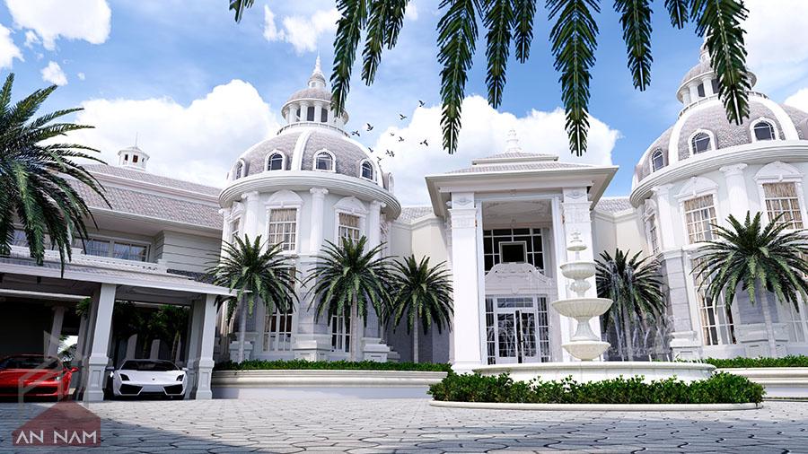 phong cách thiết kế biệt thự tân cổ điển