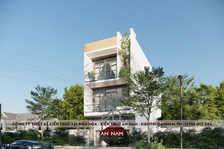 Thiết kế nhà phố 2 tầng hiện đại Biên Hòa