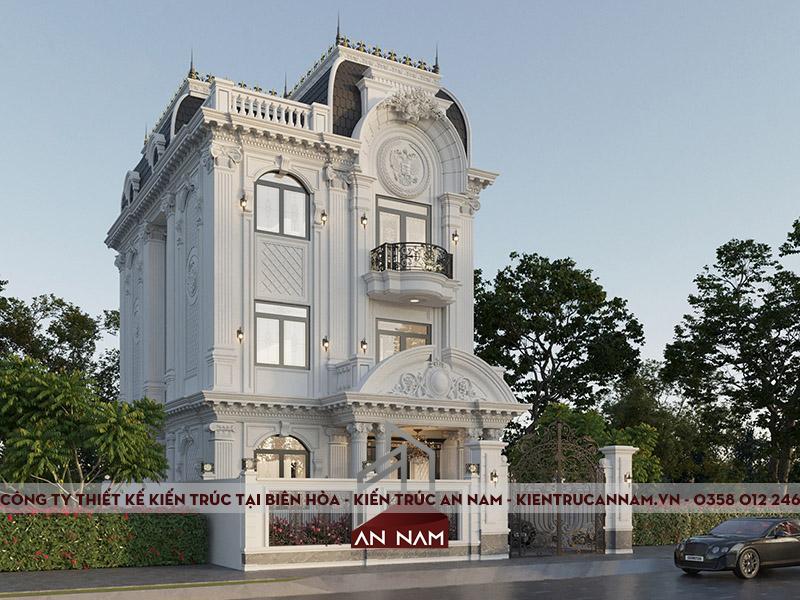 Biệt thự tân cổ điển kiểu Pháp 3 Tầng đẹp