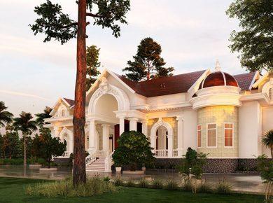 Thiết kế nhà biệt thự phong cách tân cổ điển tại Biên Hòa