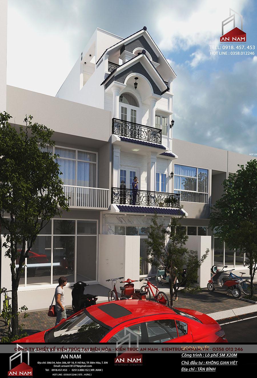 thiết kế nhà phố 4 tầng tại Hồ Chí Minh