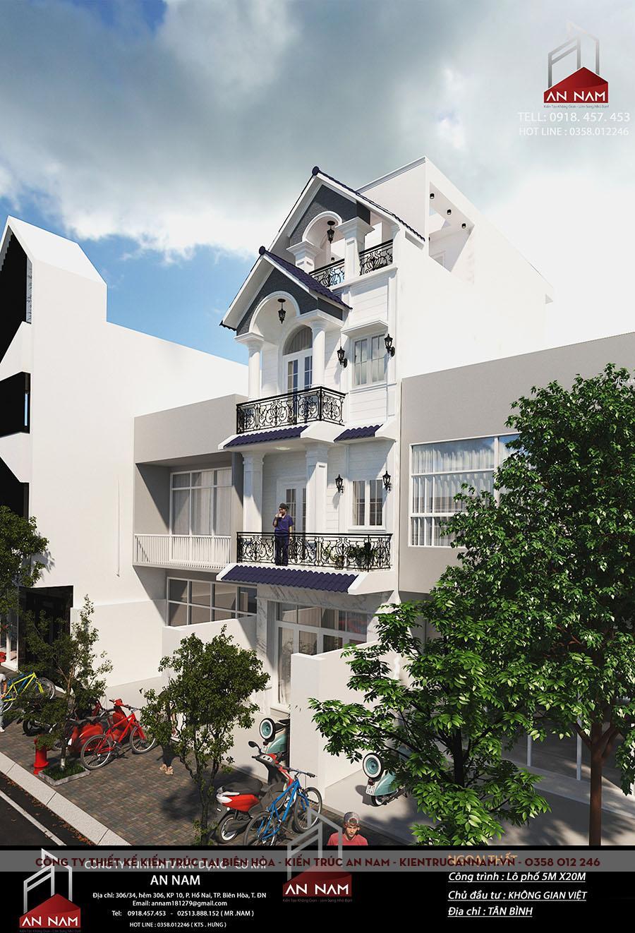 thiết kế nhà phố 4 tầng tại Hồ Chí Minh đẹp