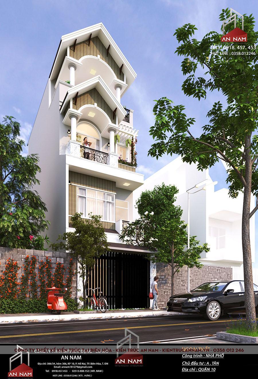 nhà phố 4 tầng tại Hồ Chí Minh sang trọng