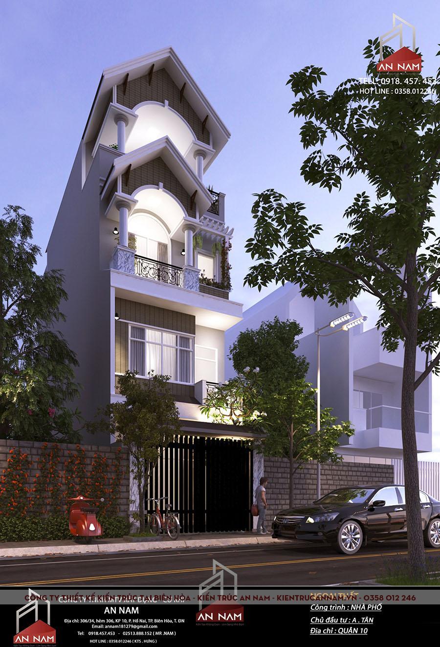 nhà phố 4 tầng tại Hồ Chí Minh độc đáo