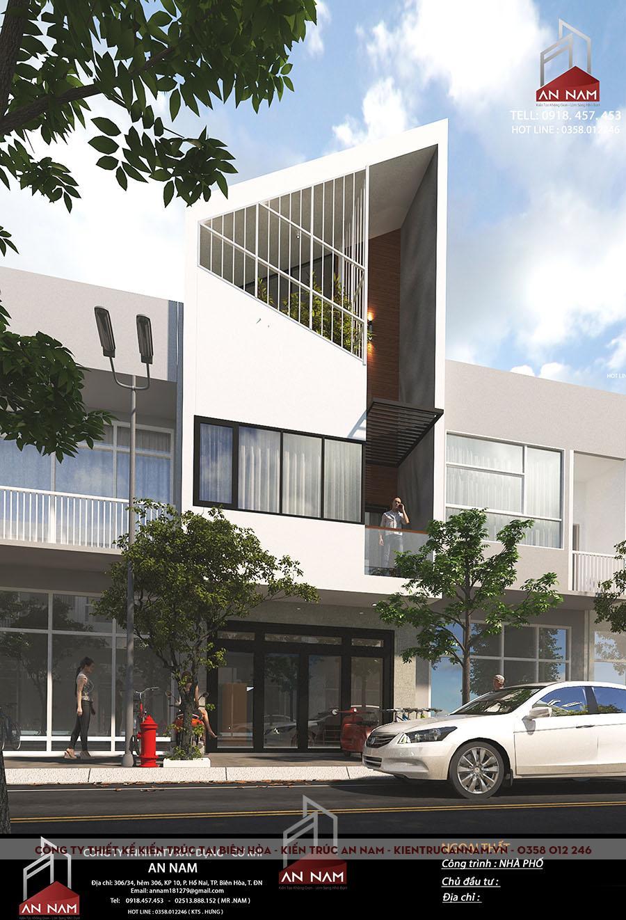 kiến trúc nhà phố 3 tầng Bình Dương đỉnh cao