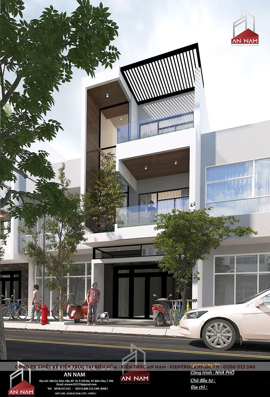 kiến trúc nhà phố 3 tầng Bình Dương đẹp