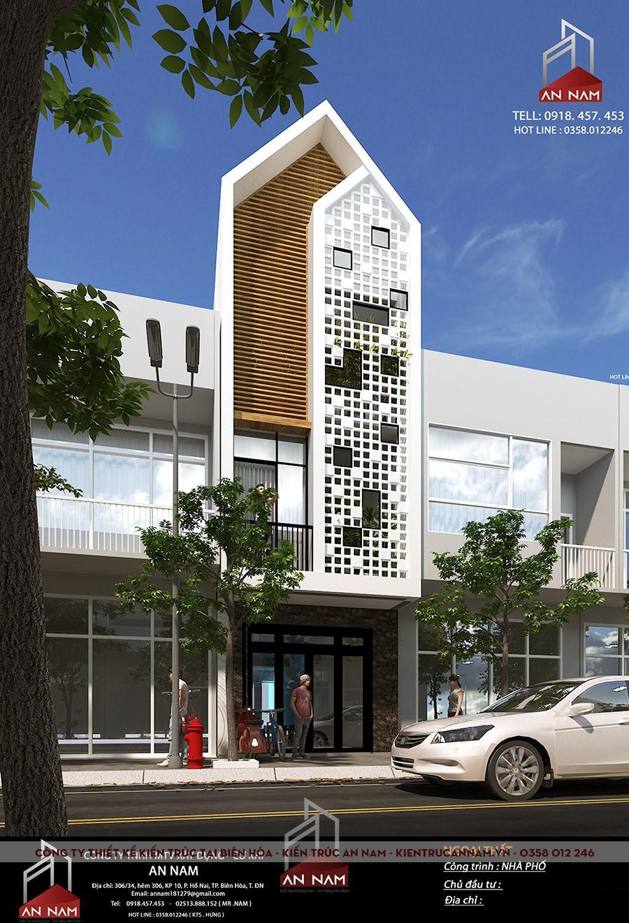 thiết kế nhà phố 3 tầng Bình Dương đẹp