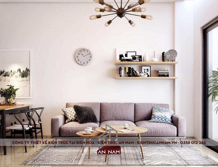 thiết kế nội thất chung cư công nghiệp