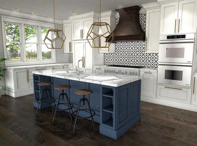 thiết kế nội thất phòng bếp Châu Âu