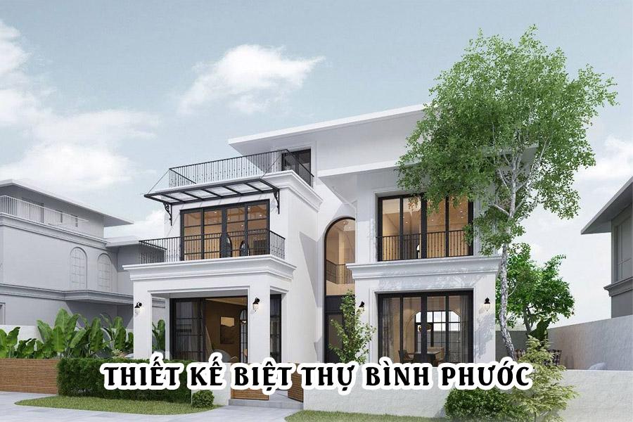 Mẫu thiết kế biệt thự 2 tầng tại Bình Phước